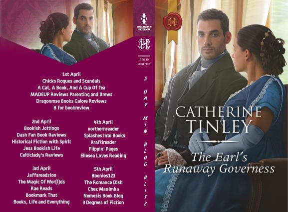 The Earl's Runaway Governess Full Tour Banner